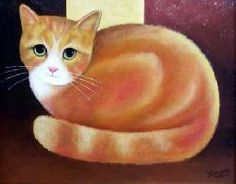 Ginger Cat by Martin Leman (b.1934)