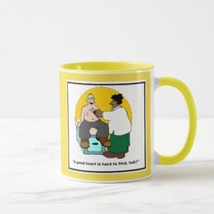 Funny Doctor Mug - Heart Comic - home gifts ideas decor special unique custom individual customized individualized