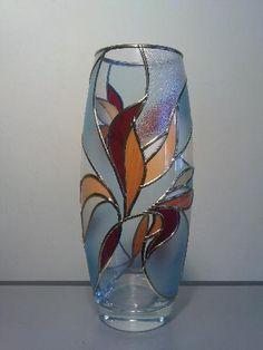 Витражна ваза