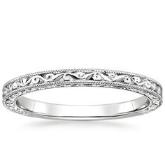 18K White Gold Hudson Ring, top view