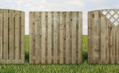 Schutting onderdelen (hout)  De schermen zijn verkrijgbaar in verschillende uitvoeringen, bijvoorbeeld recht, toog, V-scherm of trellis.Wij werken alleen met de beste producten. Duurzaamheid en hoge kwaliteit staan voorop. Standaard gebruiken wij onder Komo-keur geïmpregneerd grenen hout. U kunt ook voor bangkirai (hardhout) schermen kiezen. De schermen van grenen hout worden in eigen fabriek gemaakt.