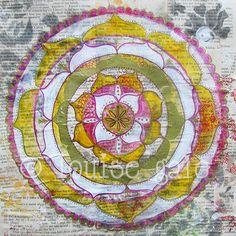 Mandala Paintings | Louise Gale Mixed Media Botanical Mandala Color Artist