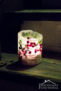how to make ice lanterns for under 5 ice luminarias, crafts, how to, outdoor living, repurposing upcycling, seasonal holiday decor