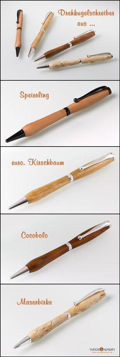 #Kugelschreiber aus #Edelholz