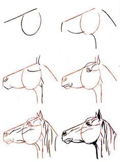 comment dessiner un cheval facile                                                                                                                                                      Plus