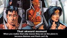 The main reason is batman tho. flash could just run