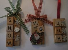 Christmas Ornies - these are so cute!