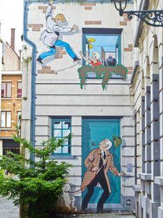 Comic Strip Walls, Brussels