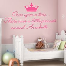 Personalised Once Upon a Time ~ Wall sticker / decals