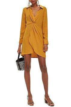 A flattering front twist shapes this airy mini styled with a low-dipping neckline and abbreviated hem. Flowy Skirt, Animal Print Dresses, Business Casual Outfits, Fall Trends, White Outfits, Nordstrom Dresses, Designer Collection, Wrap Dress, Autumn Fashion