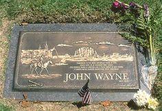 JOHN WAYNE'S GRAVE  at Pacific View Memorial Park  in Newport Beach, California