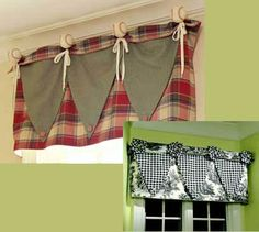 Baseball/Rosette Valance by Pate-Meadows Designs