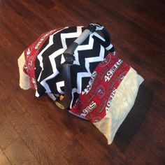 Reversible car seat canopy 49ers/black and white chevron on Etsy $40.00 & 49ers Football Car seat canopy custom order today by RyeRyes ...
