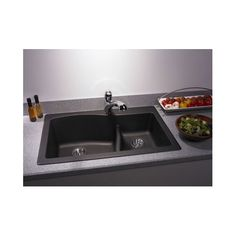 """Found it at Wayfair - Swanstone Classics 33"""" x 22"""" Large/Small Bowl Kitchen Sink"""