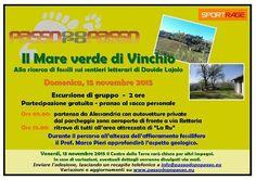 Fuori programma: Domenica 15 novembre: Anello della Val Sarmassa (AT)