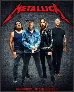 Hardwired To Self Destruct, Metallica Music, Robert Trujillo, Kirk Hammett, James Hetfield, Band Photos, Thrash Metal, Great Bands, Hard Rock