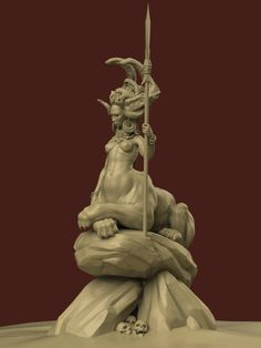 Rainha leão Fantasy Creatures, Mythical Creatures, 3d Character, Character Design, Fantasy Miniatures, Sculpture Clay, Creature Design, Zbrush, Amazing Art