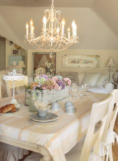 My dining area as shown in Spring 2016 issue of Romantic Country Magazine