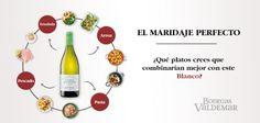 ¿Qué platos maridan mejor con nuestro Conde de Valdemar Viura? Pasta, Drinks, Salads, Dishes, Wine Cellars, Get Well Soon, Count, Drinking, Beverages