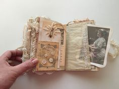 Shabby chic sewing journal