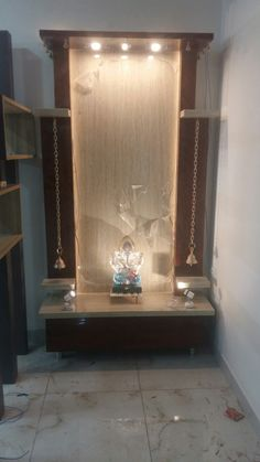 Cordial won meditation room décor read the article Pooja Room Door Design, Dining Room Design, Makeup Beauty Room, Temple Design For Home, Meditation Room Decor, Tv Wall Design, House Design, Indian Living Rooms, Puja Room