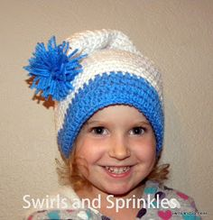 Swirls and Sprinkles: Free crochet Santa hat pattern