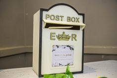 Traditional post box for your guests' cards and letters.