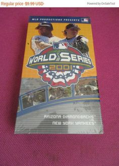 New World Series on VHS  Arizona Diamondbacks and New York Yankees baseball video sports videos classics sealed NEW by MYBARTERZONE on Etsy