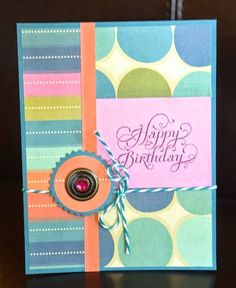 Happy Birthday (pink gem) card by Darla Weber #WRMK