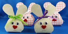 Small bunny boxes - Basket and Crate Paper Crafts Origami, Origami Box, Diy For Kids, Crafts For Kids, Easter Traditions, Easter Activities, Easter Party, Easter Baskets, Craft Fairs