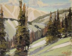 Medicine Bow Mts. #1113G, painting by artist George Coll