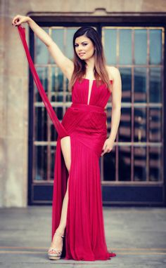 CRISTALLINI #EveningDress #Prom #Silk #RedDress #RedCarpet