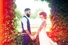 another beautiful wedding photo :) This is what I will look like for my wedding photos. Lots of tattoos