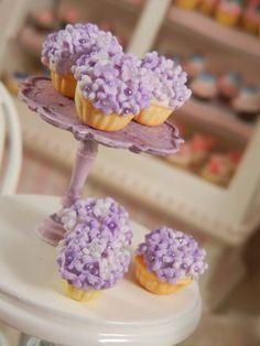 Dollhouse Miniature Shabby Chic Style Cupcakes by gillianokelley, $13.50