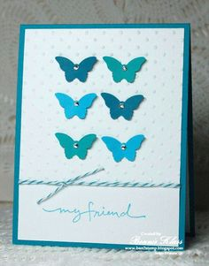 Stamping with Klass: Featuring Danni with Bitty Butterflies