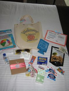 Wedding Gifts For Guests welcome bags for our destination wedding (bags were made by my fabulous mother in law) for all of our wedding guests! Destination Wedding Bags, Cruise Wedding, Wedding Gift Bags, Wedding Gifts For Guests, Wedding Welcome Bags, Beach Wedding Favors, Our Wedding, Wedding Souvenir, Nautical Wedding
