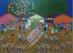 As telas da artista potiguar, Ivanise do Vale, retratam os folguedos populares da alma simples do povo brasileiro. A Festa do Boi de Reis é um dos seus tem