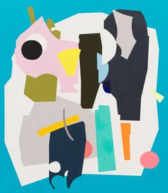 Mortise by Kirra Jamison, 2012, acrylic on polyester, 170 x 150 cm