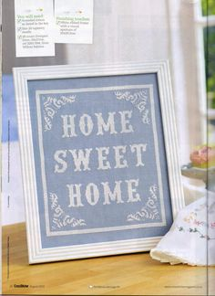 Home Sweet Home From Cross Stitcher N°215 August 2009 1 of 4