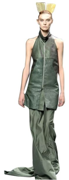 Size New Long Halter Dress, Rick Owens, Authenticity, Confident, Night Out, Jade, Zero, Luxury Fashion, Runway