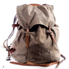 Distressed military backpack