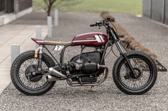 A super skinny BMW flat tracker by VTR Customs of Switzerland.