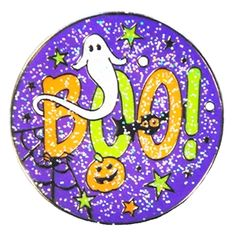 Mark Your Spot with GLITZY BOO! Ball Marker! A fun way to celebrate Halloween with this BOO-tastic ball marker. Keep the fright going with our Witch, Spooky Haunted House and Jack O'Lantern ball markers for a great set!
