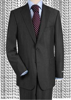 df82df61350 High-Quality Construction Two-Button Darkest Charcoal Gray Super 150 Fine  Wool Notch Lapel