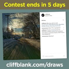 The draw for Winter Wander ends in 5 days! Visit http://ift.tt/2l24pFh on how to enter. #photography #photo #photos #pic #pics #picture #pictures #snapshot #art #beautiful #instagood #picoftheday #photooftheday #color #all_shots #exposure #composition #focus #capture #moment #contest #giveaway #sweepstakes #raffle #draw #win #winter #scene #NewWestminster #NewWest