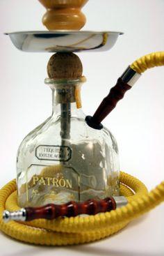 Yellow Patron  750ml Bottle Shisha Hookah With Matching  Hose, Tray, and Bowl on Etsy, $69.99