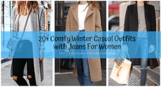 Comfy Winter Casual Outfits with Jeans For Women Winter Outfits Women, Casual Winter Outfits, Simple Outfits, Long Sweaters For Women, Casual Sweaters, Cute Outfits With Jeans, Jean Outfits, Light Jeans Outfit, Black Coated Jeans
