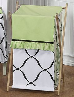 Princess Black, White and Green Laundry Hamper