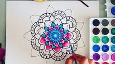 Hey guys, this is a TimeLapse of my latest pink&blue mandala. Hope you guys enjoy watching it have an amazing day☄ Music by:bensound