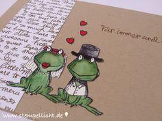 Stempellicht: Froschhochzeit❤️ Hochzeitskarte ...mit Love You Lots ....